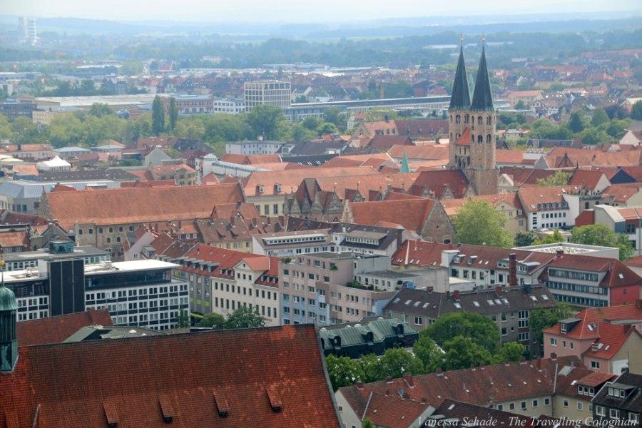 Braunschweig vom Südturm der Kirche St. Andreas Braunschweig Niedersachsen Deutschland EUROPA