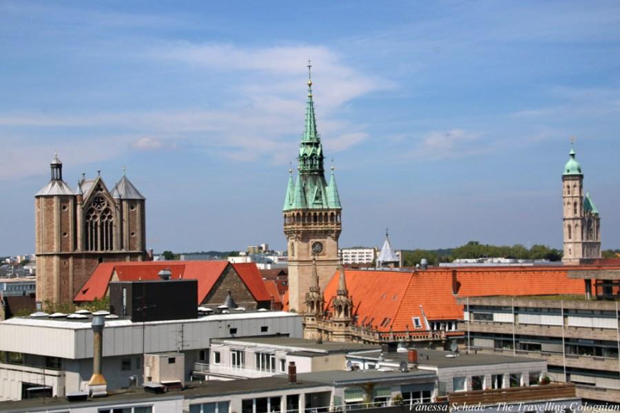 Braunschweig von der Quadriga Rathausturm Dom Braunschweig Niedersachsen Deutschland EUROPA