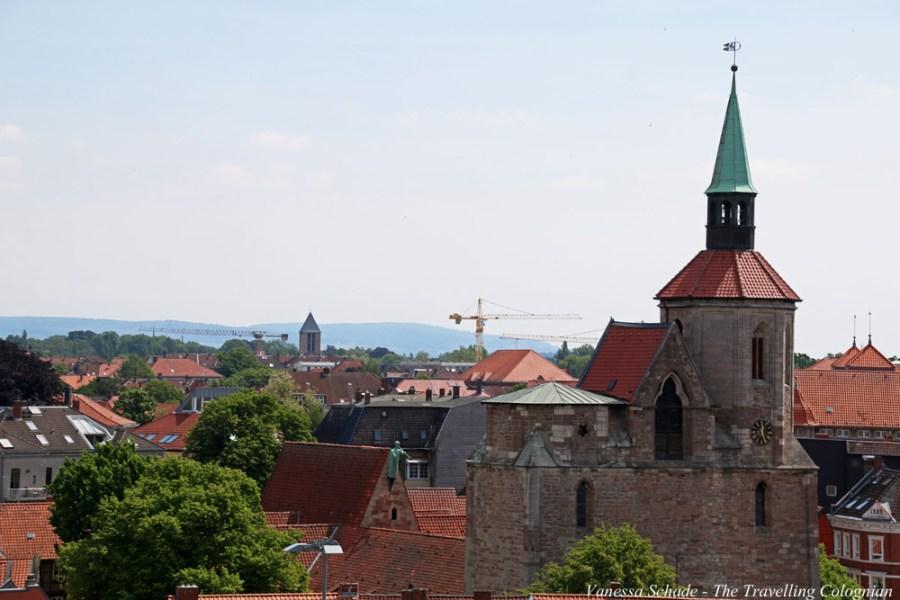 Magniviertel von oben Quadriga Braunschweig Niedersachsen Deutschland EUROPA