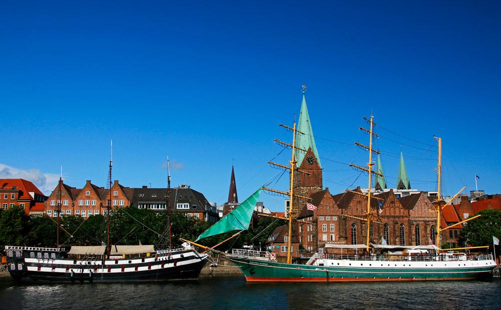 Bremen und seine Sehenswürdigkeiten sind geprägt von der Lage an der Weser