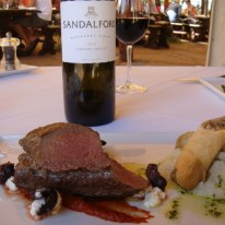 cumin rolled lamb loin, roast red pepper, slow cooked shoulder, artichoke, feta and olives sandalford estate swan valley