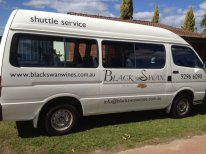 black swan shuttle service bus swan valley perth