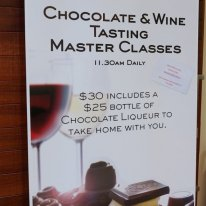 Chocolate and wine tasting class in the Swan Valley