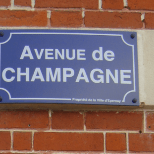 Avenue de Champagne sign in Epernay France