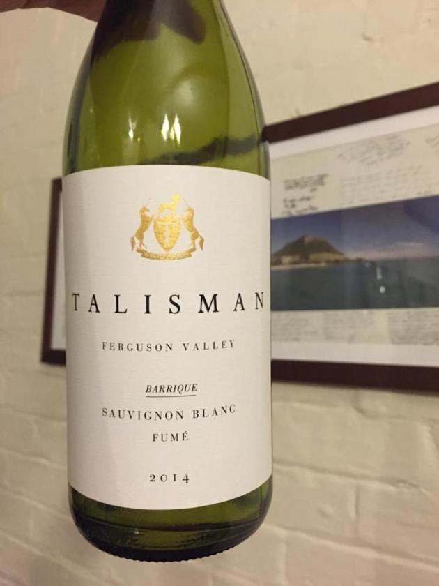 Talisman Wines 2014 Fume - TC Wine Blog