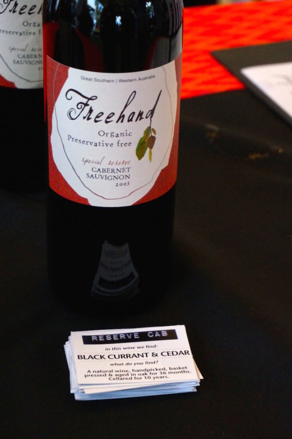 Freehand Wines 2003 Reserve Cab2015