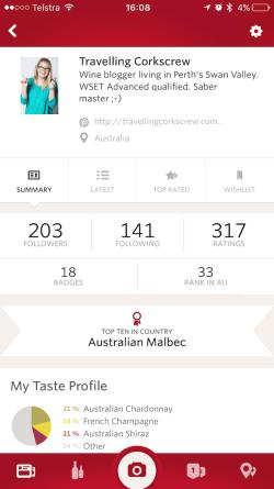 Vivino Wine App - Profile Page