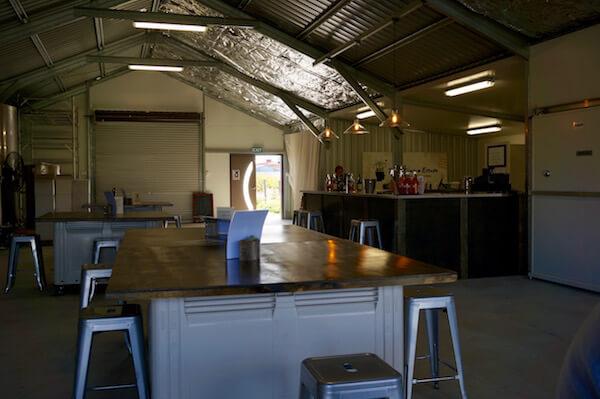 Inside the cellar door at Pandemonium Estate, Swan Valley