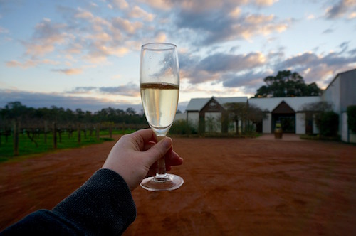 Upper Reach Winery Cellar Door & Glass of Bubbles