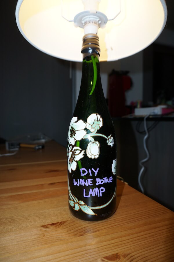 DIY Wine Bottle Lamp Instructions