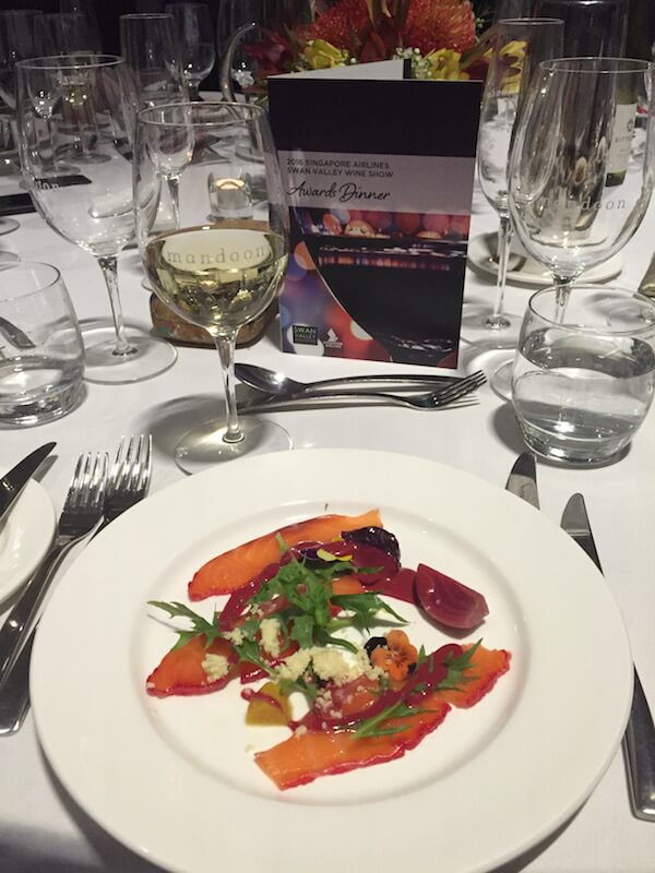Swan Valley 2016 Wine Awards - Trout Entree