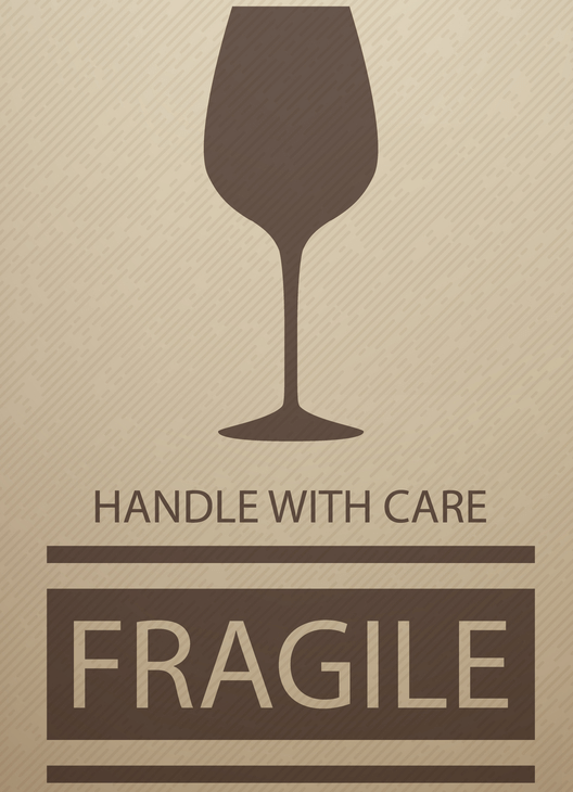 Wine Packaging Fragile Sticker for Shipping