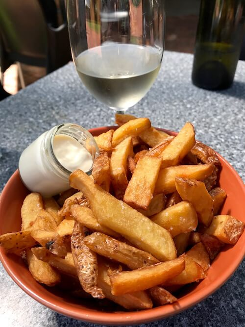Chips with Aioli at Houghton Winery Cafe in the Swan Valley