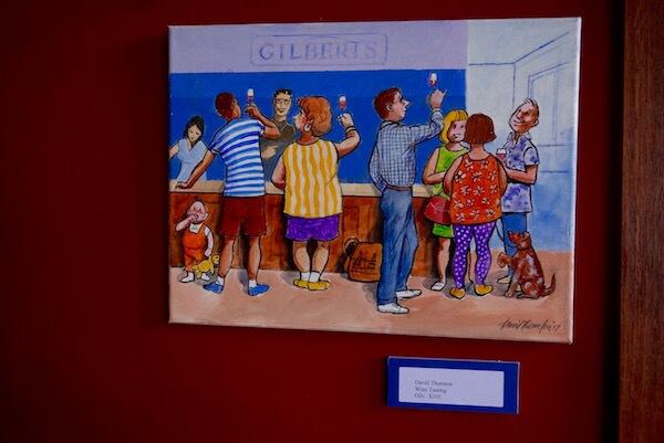 Gilbert Wines Cellar Door - Art by David Thornton
