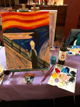 Cabernet & Canvas Class - Edvard Munch - My Painting