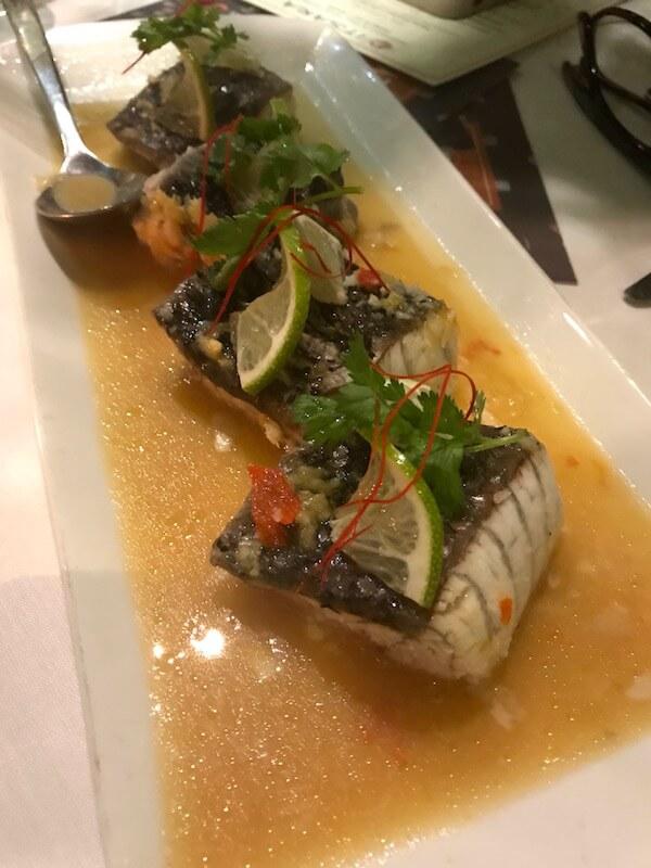 Steamed Barramundi - Itsara Thai Restaurant Perth