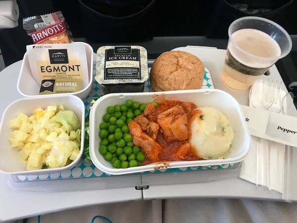 Air New Zealand Economy Class Meal