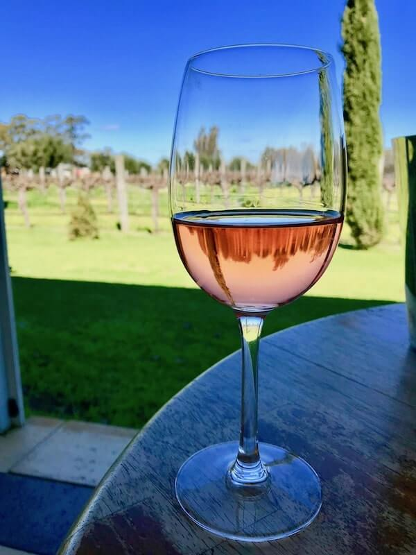 Rose Wine at Pinelli Winery Restaurant - Swan Valley Perth