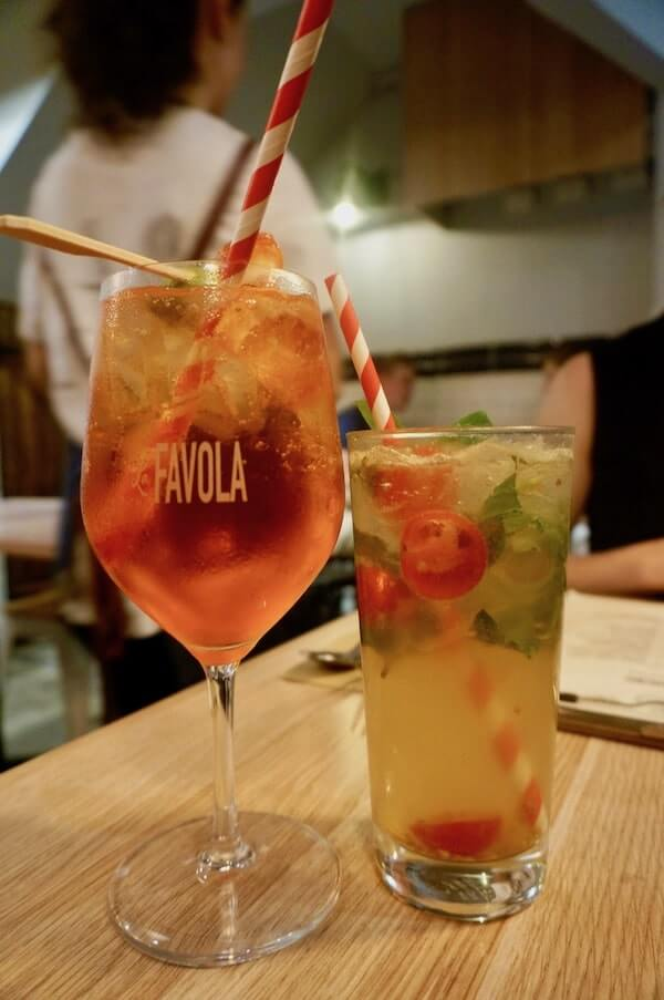 Cocktails at La Favola Newtown Sydney