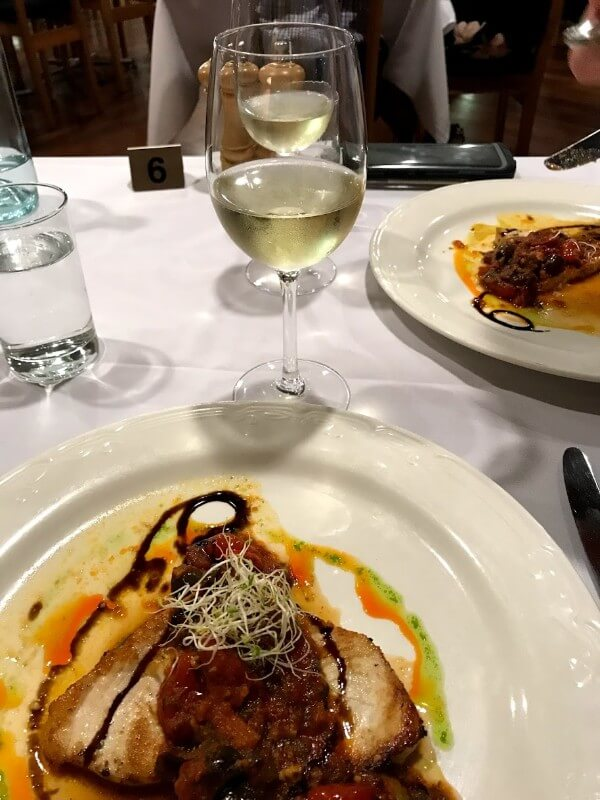 thrid-course-pesce-spada-at-second-course-risotto-con-grano-padano-at-pinelli-estate-winery-restaurant-with-a-glass-of-verdelho-reserve