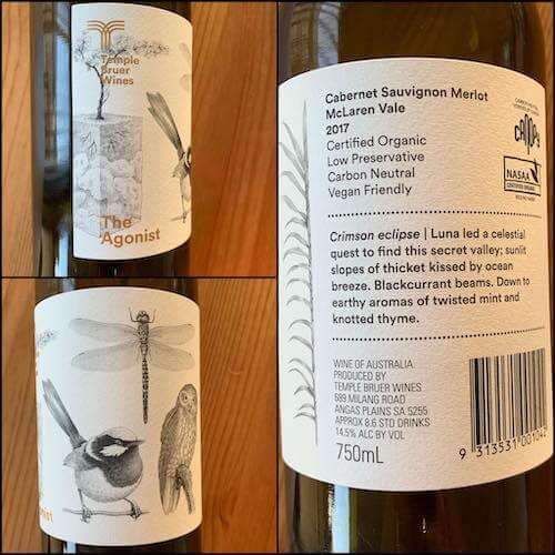 Temple Bruer Wines 2017 The Agonist Cabernet Sauvignon Merlot