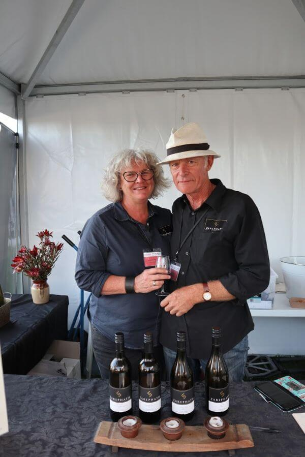 rosie from zarephath at the albany wine and food festival