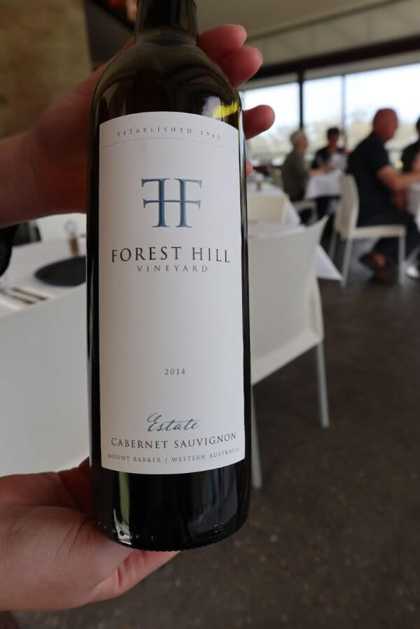 bottle of forest hill vineyard estate 2014 cabernet sauvignon