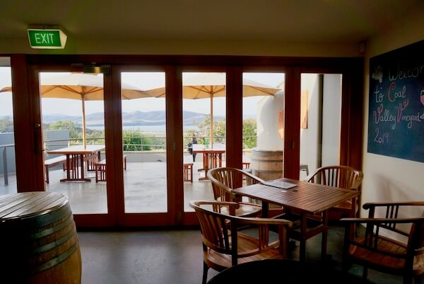 Coal Valley Vineyard - View from Tasting Room - Tasmania Wineries