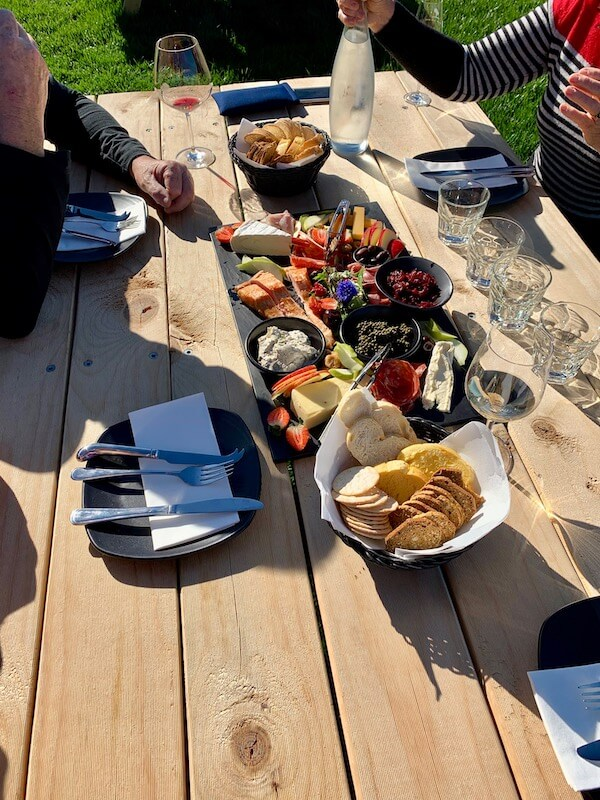 Platter at Cabbage Tree Wines - Tamar Valley, Tasmania