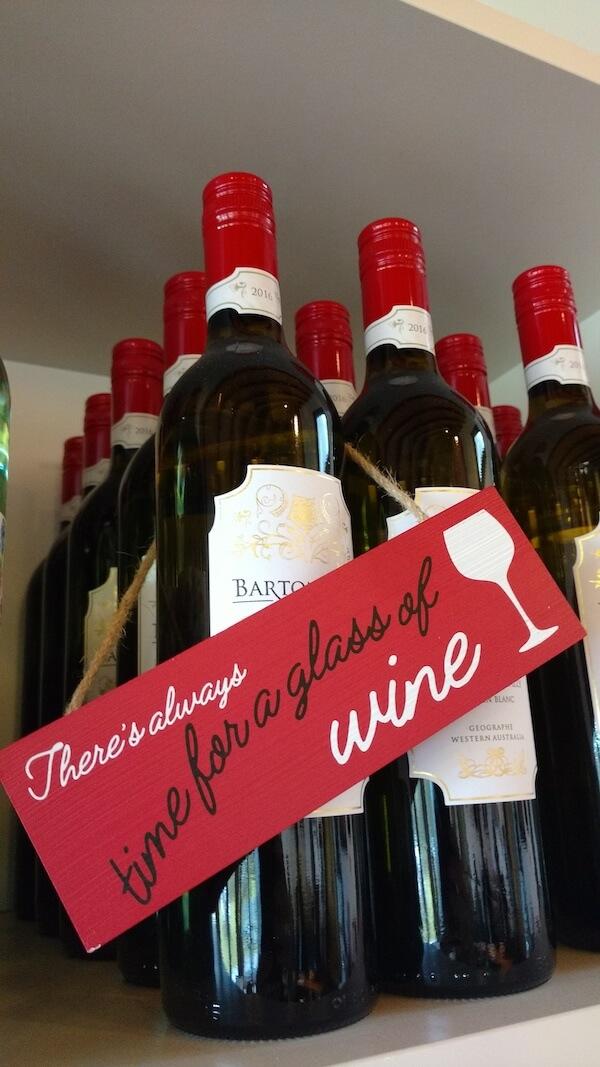 Barton Jones wine sign