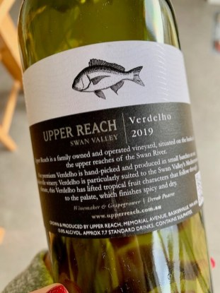 Upper Reach 2019 Verdelho back label