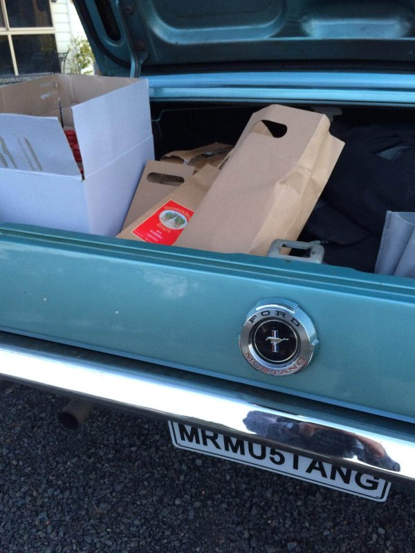 Wine purchases in Mr Mustang Hire
