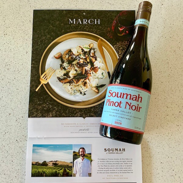 March - Wine Selectors 2020 wine and food calendar case