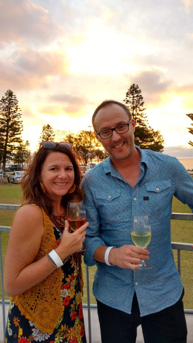 Nicola and Ralph at Sunset Wines and Brews Perth 2020