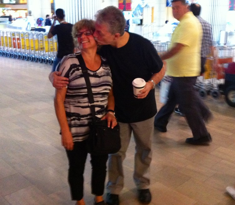 My parents reunited in Israel after being apart for about 4 weeks - too cute!