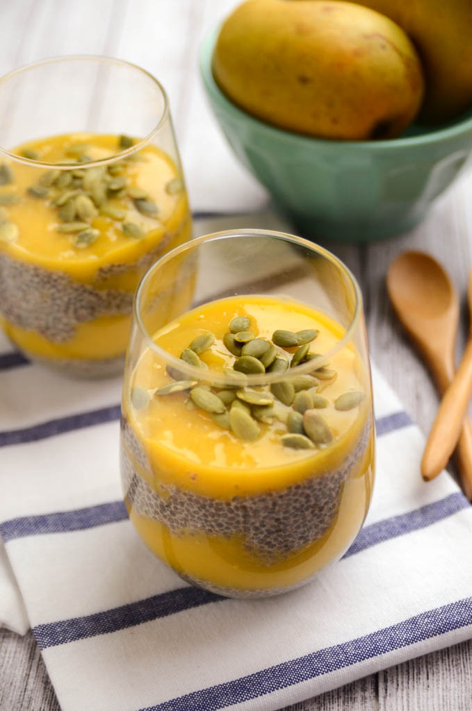 Sweet Mango Chia Seed Pudding