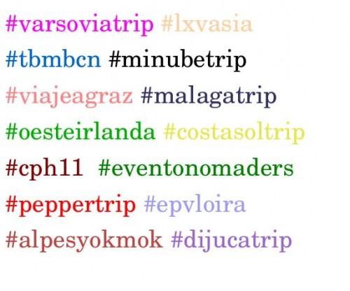 ejemplos de hahstag de viajes