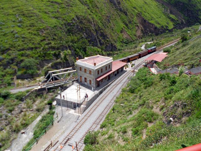 Estación de Sibambe desde el mirador