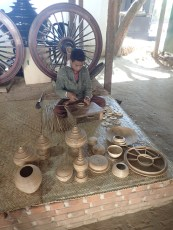 Making bamboo moulds