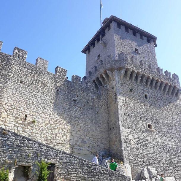 Ramparts of castle in San Marino