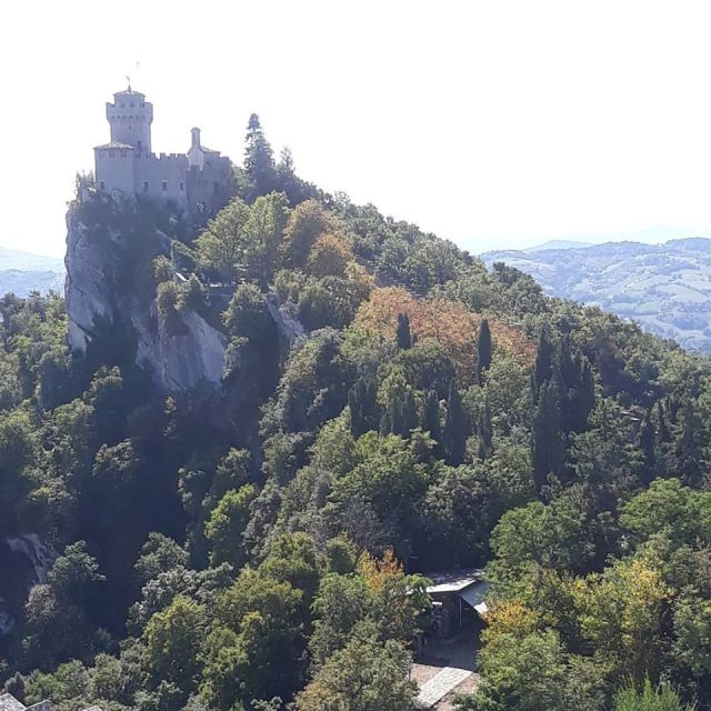 VIew of castle in San Marino