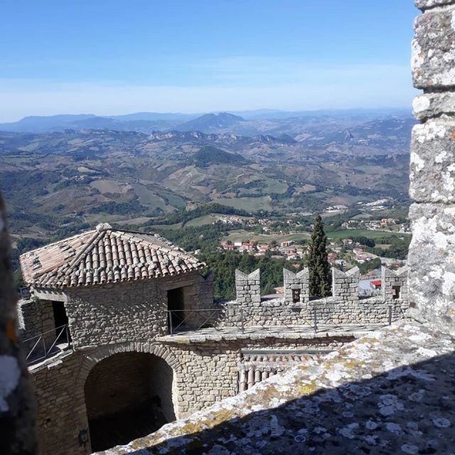The spectacular view from San Marino.