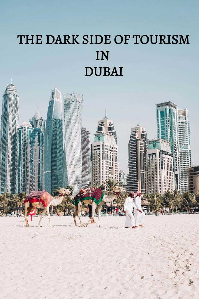 Modern Slavery in Dubai - despite Dubai marketing itself as a 'fun in the sun' Middle Eastern Las Vegas, there is a much darker side to Dubai that most tourists are blissfully unaware of. In addition to shocking human rights abuses, the United Arab Emirates is actually an epicentre of modern day slavery. #dubai #dubaitravel #uae