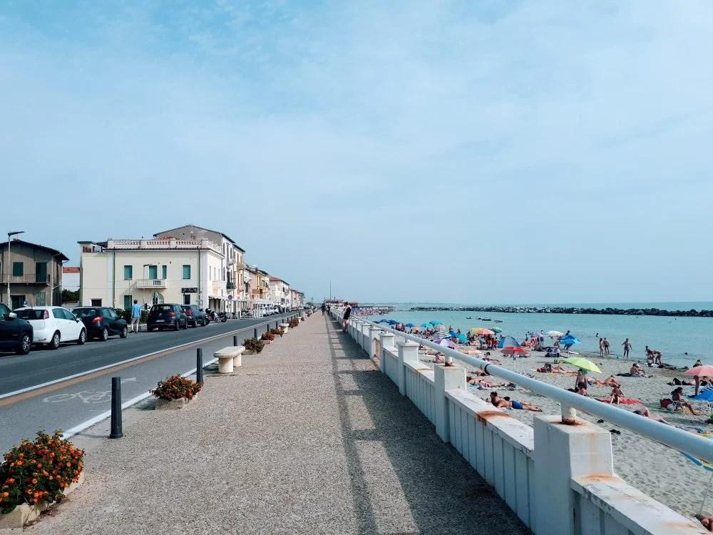 marina di pisa promenade italy