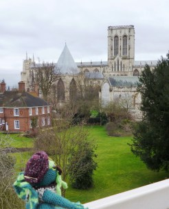 From the wall, Cthulu could see the York Minster. It is a great big building with lots of people inside.