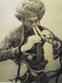 pencil art, Indian, music