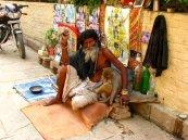 monkey on chain, Varanasi, India, Backpacking
