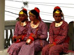 Three girls in costume
