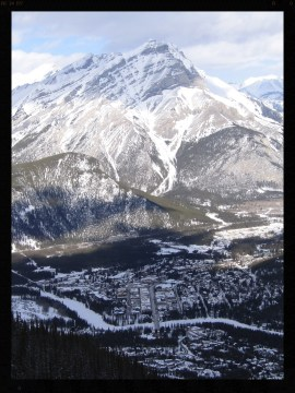 View of Banff from Sulphur Mountain