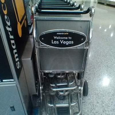 Shopping carts at Las Vegas McCarron International Airport